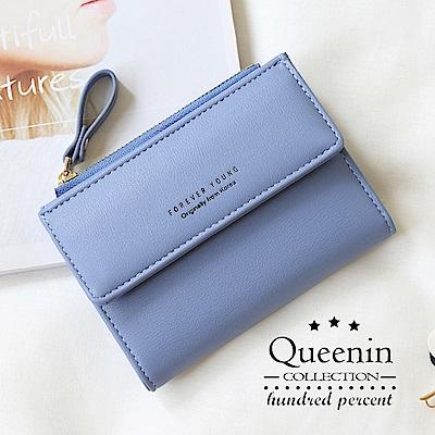 DF Queenin皮夾 - RFID多卡位兩折小錢包短夾-共4色