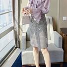 設計所在Lady-高腰格子中長包臀A字短裙(S-XL可選)