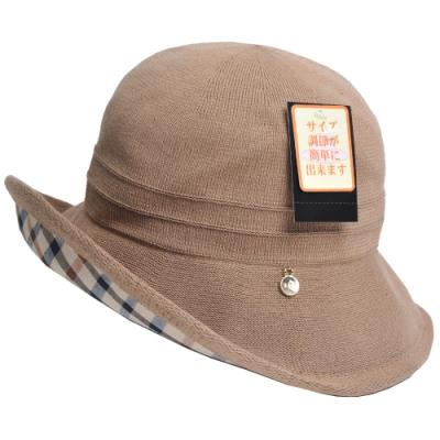 DAKS品牌格紋字母金屬LOGO漁夫帽(駝色)