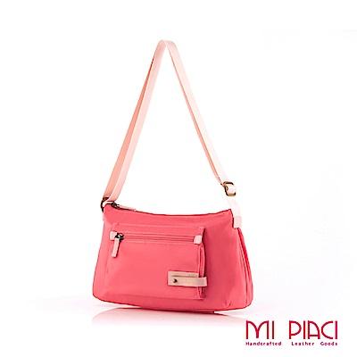 MI PIACI 革物心語-輕盈系列肩背包粉紅1282795