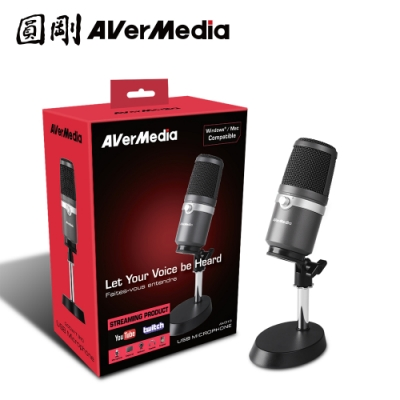 圓剛 AVerMedia AM310 黑鳩 高音質USB麥克風 直播 演唱專用