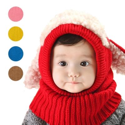 colorland 毛線帽+圍巾-寶寶兒童披肩保暖帽