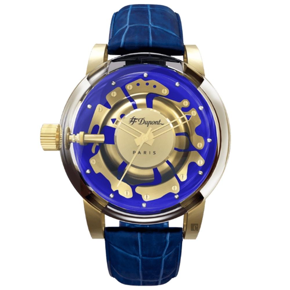S.T.Dupont 都彭  HYPERDOLME系列 現代經典石英錶-43mm 065129F