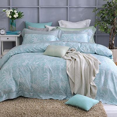 LASOL睡眠屋-100%奧地利天絲 雙人兩用被床包四件組300織 半夏絮語