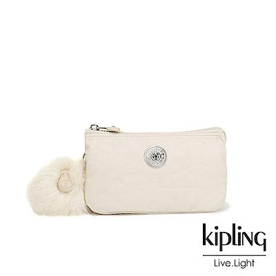 Kipling 優雅米白三夾層配件包-CREATIVITY L