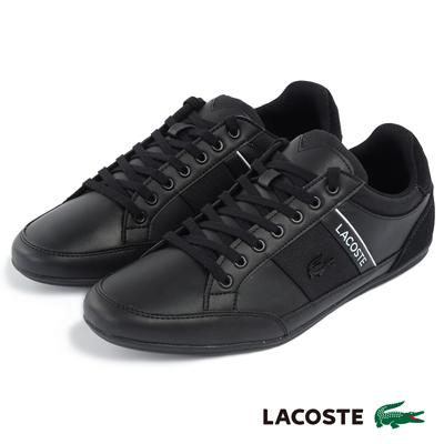 LACOSTE 男用休閒鞋-黑色