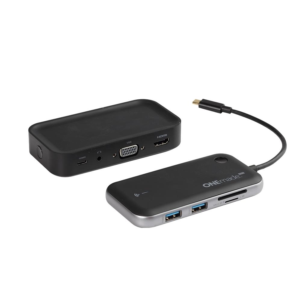 5G WiFi無線發射接收套件組-無線投影HDMI影像傳輸器