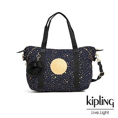 Kipling 夜黑潑墨星點手提側背包-ART