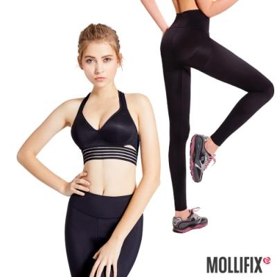 [時時樂限定]Mollifix 深V曲線運動BRA+提臀動塑褲成套組