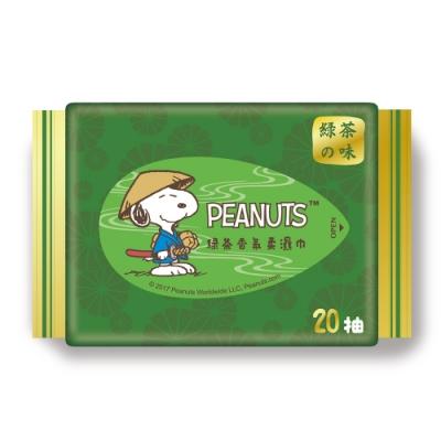 Snoopy 史努比 綠茶香氛濕紙巾 20 抽 X 36 包/箱