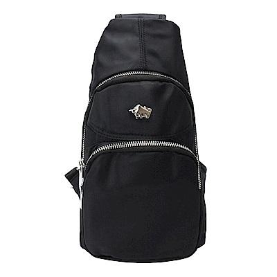 DRAKA 達卡 - 防潑水兩用單肩斜背胸包-黑