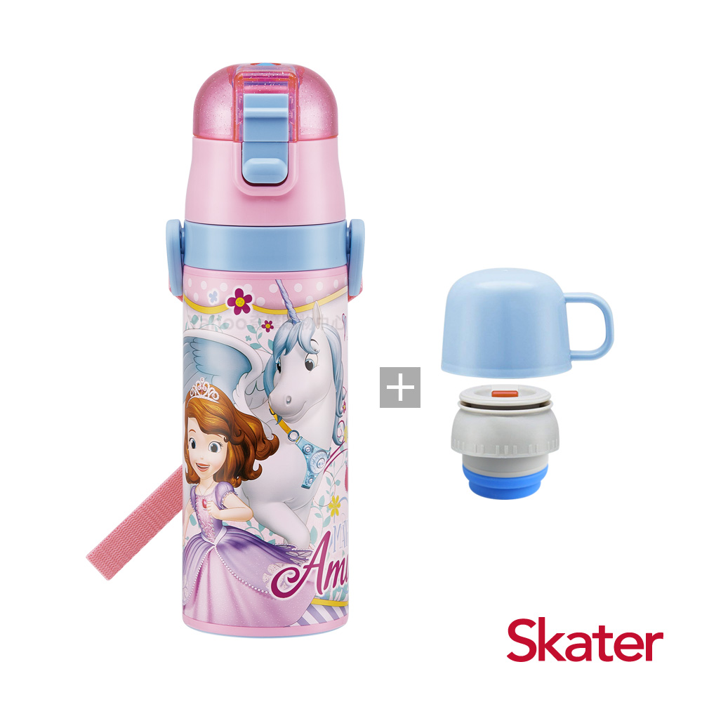 Skater直飲2way保溫水壺(附杯蓋組)-蘇菲亞Unicorn
