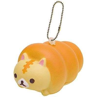 捲心奶油貓土司麵包系列QQ公仔吊飾。奶油貓 San-X
