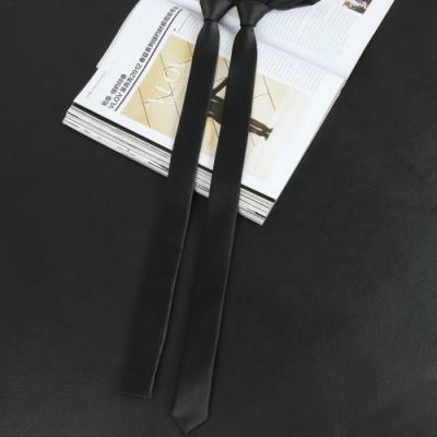Laifuu拉福,極細3.5CM黑超窄版領帶手打領帶(多款)