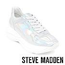 STEVE MADDEN-MEMORY潮流款拼接時尚老爹鞋-鏡銀