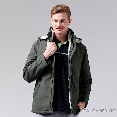 ROBERTA諾貝達 禦寒必備 可拆二件式背心夾克外套 綠色