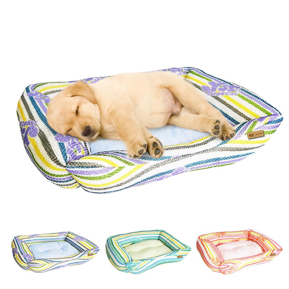 YSS 玉石冰雪纖維散熱冷涼感窩型寵物床墊/睡墊L(3色)