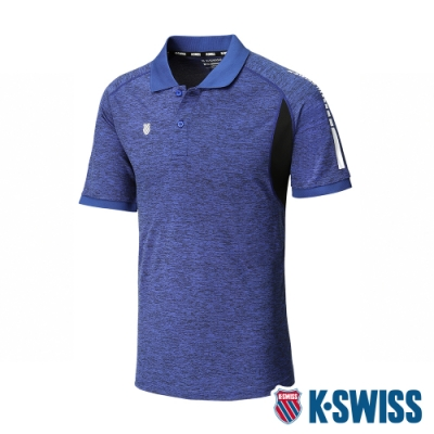 K-SWISS Performance Polo排汗POLO衫-男-藍