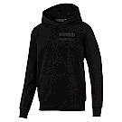 PUMA-男性法拉利經典系列Winter長厚連帽T恤-黑色-歐規
