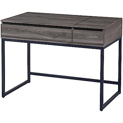 綠活居 馬卡時尚3.5尺二抽書桌/電腦桌-106x60x75cm免組