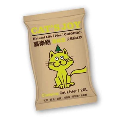 喜樂貓CAT S JOY-凝結型天然松木貓砂-原木 20L (第二代凝結型)
