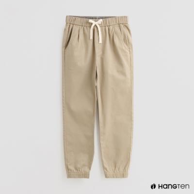 Hang Ten -童裝 - 素色抽繩運動長褲 - 卡其