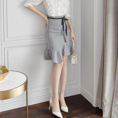 設計所在Lady-中長不規則魚尾裙(S-XL可選)