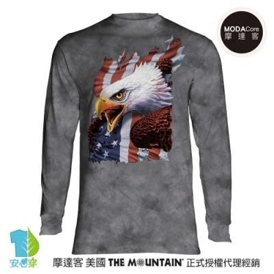 摩達客 預購 美國The Mountain 愛國尖叫鷹 純棉長袖T恤
