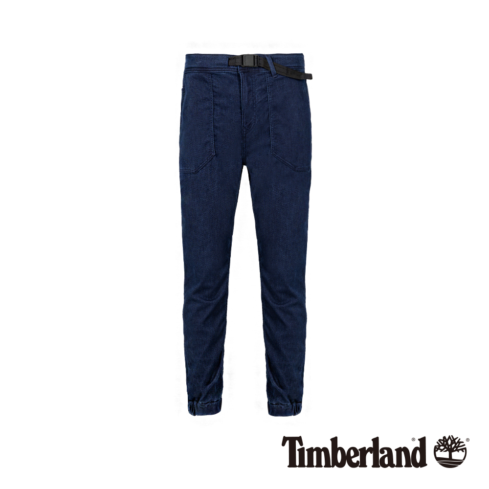 Timberland 男款深藍色蜂巢牛仔布修身錐形束口褲|A1WE5 product image 1
