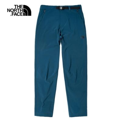 The North Face北面男款藍色吸濕排汗戶外徒步褲|46L1BH7