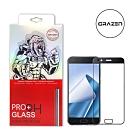 【格森GRAZEN】ASUS Zenfone 4/ZE554KL滿版(黑)鋼化玻璃