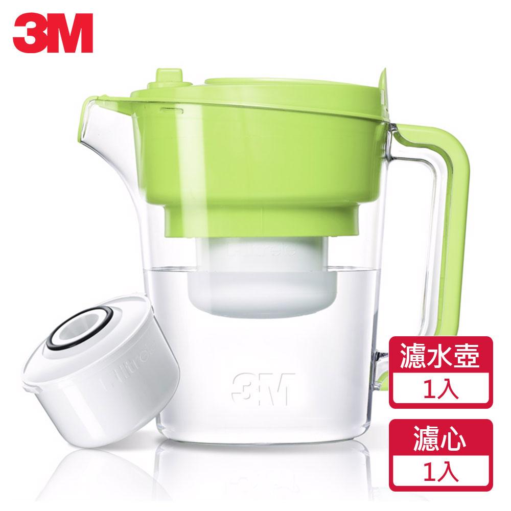 3M 即淨長效濾水壺WP3000-GR-(青蘋綠)(1壺+1濾心)(快)