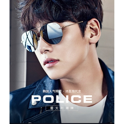 POLICE 水銀面 太陽眼鏡 (銀色)SPL461G