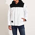 海鷗 Hollister 年度熱銷經典標誌防風防潑水風衣外套-黑白色