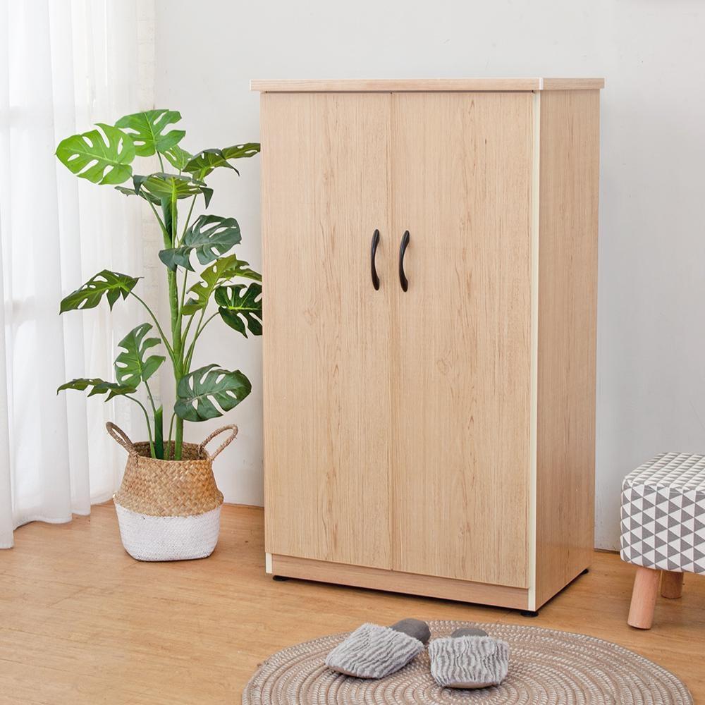 Boden-防潮防蛀防水塑鋼2.2尺二門鞋櫃(兩色可選)-66x43x112cm