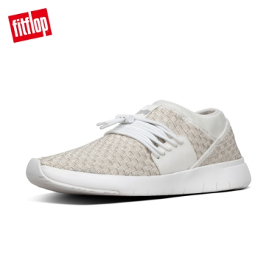FitFlop STRIPKNIT LACE-UP SNEAKERS 都會白