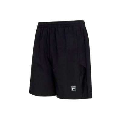 FILA 男抗UV平織短褲-黑 1SHT-5302-BK