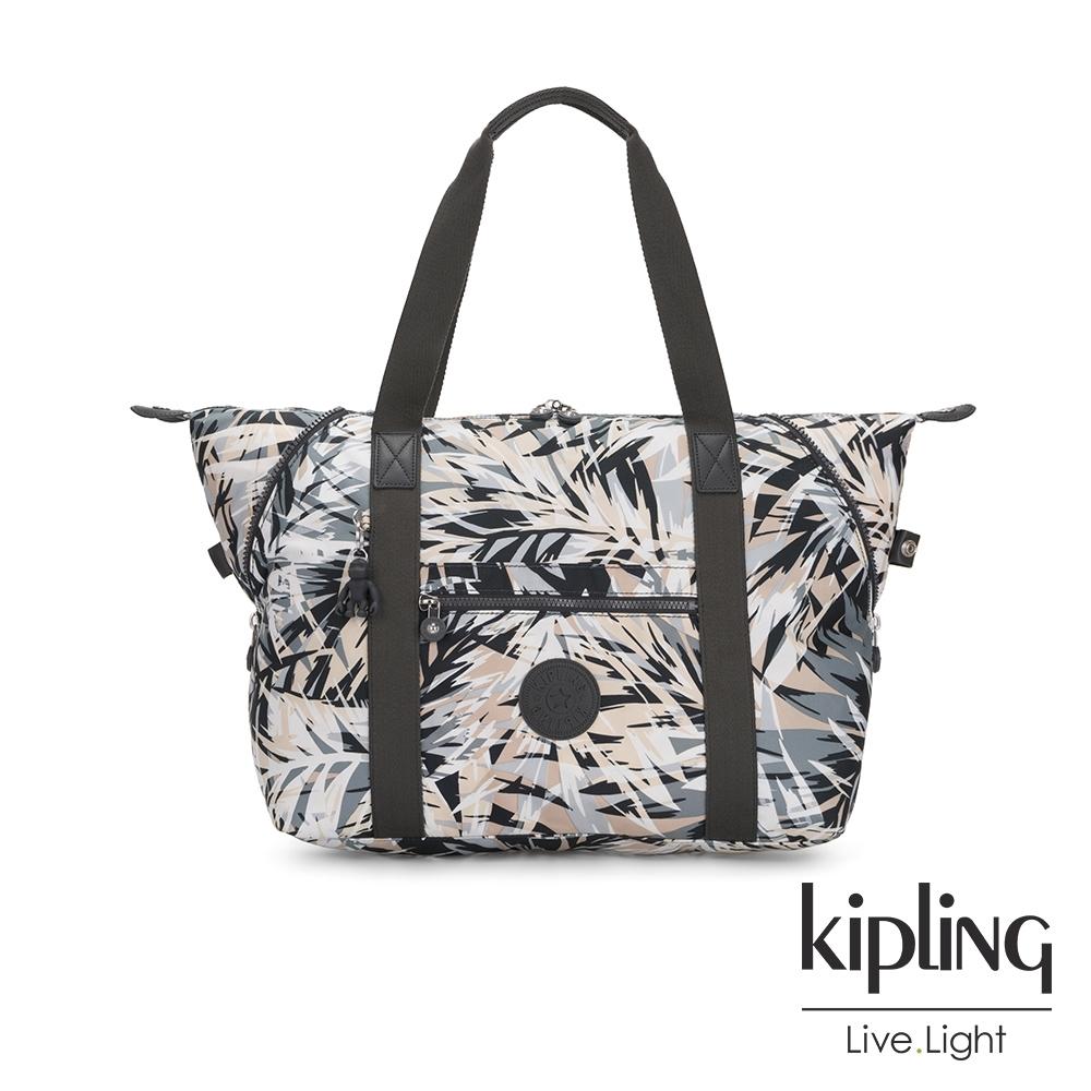 Kipling 夏日棕櫚印花手提側背包-ART M