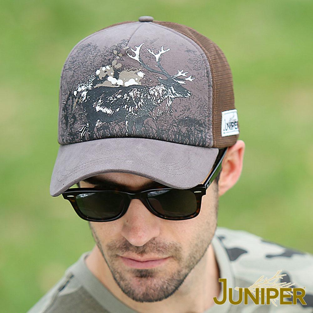 JUNIPER 透氣網洞野鹿印刷卡車棒球帽
