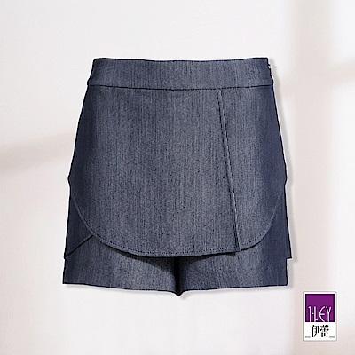 ILEY伊蕾 層次活片短褲裙(藍)