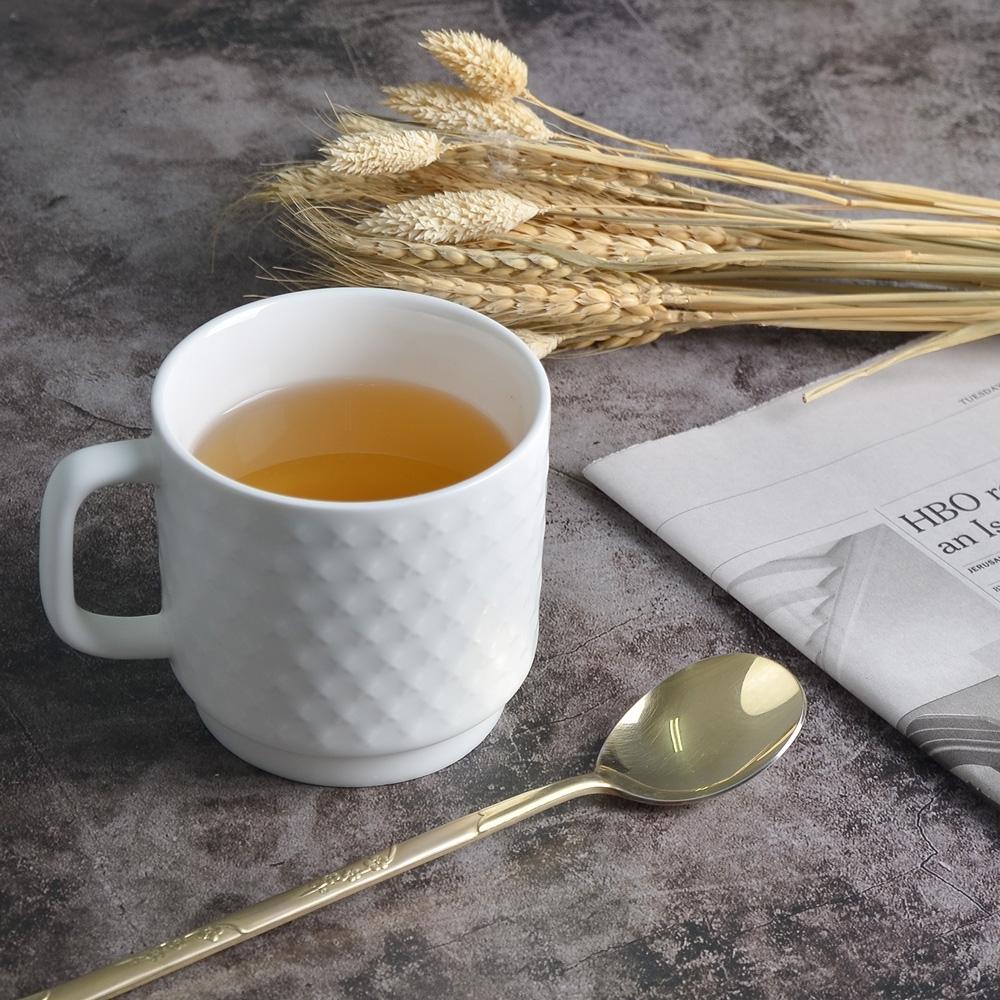 Homely Zakka-簡約北歐ins風時尚馬克杯/咖啡杯/早餐杯_優雅白
