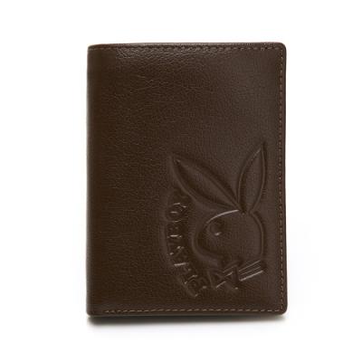 PLAYBOY- 中翻式中夾  rabbithead系列-咖啡色