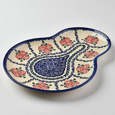 【波蘭陶 Vena】 漫野薔薇系列 葫蘆造型餐盤 波蘭手工製