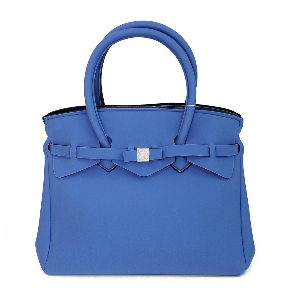 SAVE MY BAG 義大利品牌 MISS系列 湛藍超輕量手提托特包
