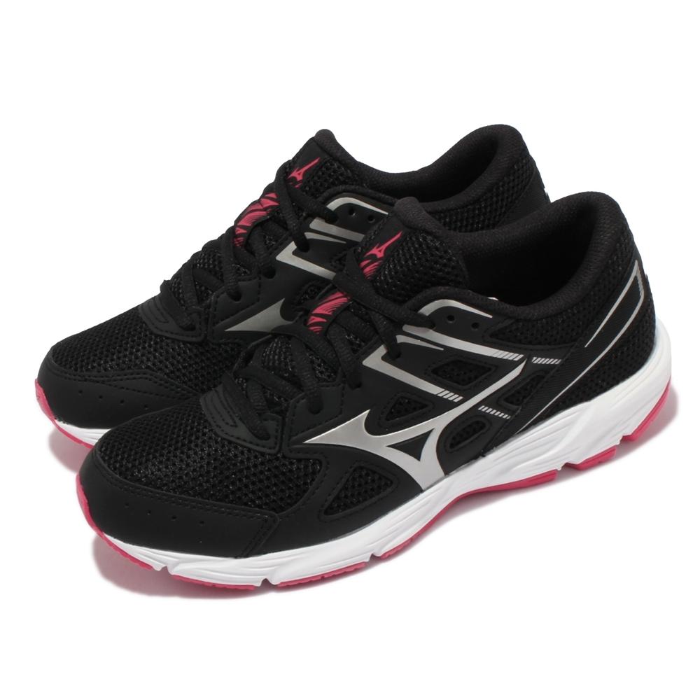 Mizuno 慢跑鞋 Spark 6 運動休閒 女鞋 美津濃 路跑 緩震 輕量 基本款 黑 白 K1GA2104-04