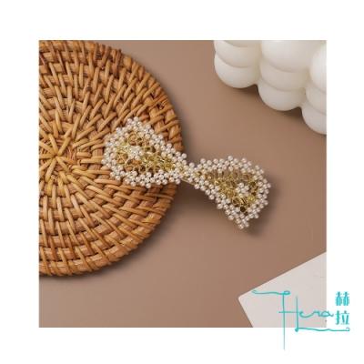 Hera 赫拉 低調奢華韓風優雅珍珠髮夾/彈簧夾