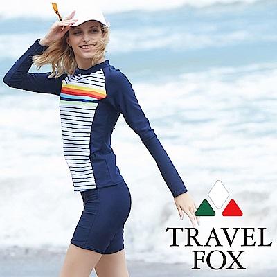 TRAVEL FOX夏之戀大女衝浪裝二件式泳衣