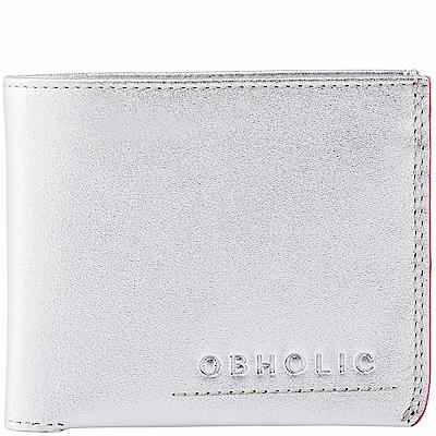 OBHOLIC 義大利牛皮短夾錢包皮夾 OB13MW003