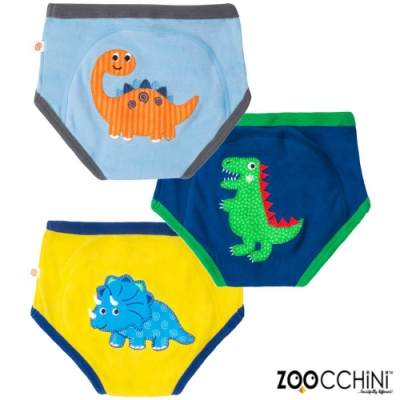 ZOOCCHiNi美國有機棉學習褲3入-侏儸紀公園