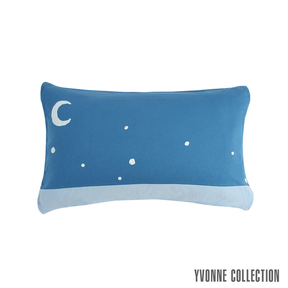 YVONNE COLLECTION 貓頭鷹月亮枕套- 中藍